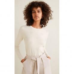Mango - Sweter Puntoray. Szare swetry damskie Mango, z dzianiny, z okrągłym kołnierzem. W wyprzedaży za 69.90 zł.