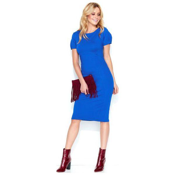 bee173436e Makadamia Damska Sukienka 44 Niebieska - Niebieskie sukienki damskie ...