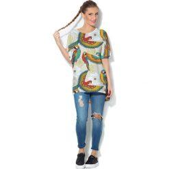 Colour Pleasure Koszulka CP-033  70 szaro-turkusowa r. uniwersalny. Bluzki damskie marki Colour Pleasure. Za 76.57 zł.
