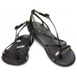 Crocs Damskie Sandały Isabella Gladiator Czarny (37,5). Czarne sandały damskie Crocs, w paski. Za 279.00 zł.
