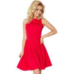 98-2 sukienka koło - dekolt łódka - lacosta czerwona. Czerwone sukienki damskie NUMOCO, z dekoltem w łódkę. Za 131.00 zł.