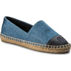 Espadryle TORY BURCH - Color Block Flat Espadrille 46767 Denim Chambray/Perfect Navy 435. Niebieskie espadryle damskie Tory Burch, z denimu. W wyprzedaży za 399.00 zł.