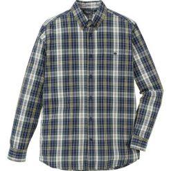 Koszula w kratę Regular Fit bonprix zielono-ciemnoniebieski w kratę. Zielone koszule męskie bonprix. Za 89.99 zł.