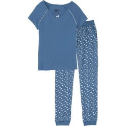 Piżama bonprix niebieski dżins z nadrukiem. Piżamy damskie marki MAKE ME BIO. Za 59.99 zł.