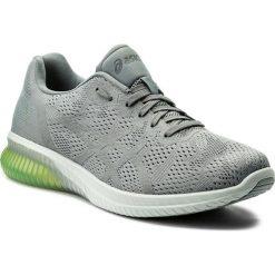 Buty ASICS - Gel-Kenun Mx T838N  Stone Grey/Safety Yellow 1111. Szare buty sportowe męskie Asics, z materiału. W wyprzedaży za 399.00 zł.