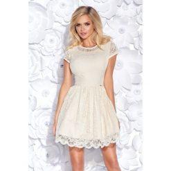 Cudowna sukienka z koronki 2144. Szare sukienki dla dziewczynek Bico, w koronkowe wzory, z koronki, wizytowe. W wyprzedaży za 189.00 zł.