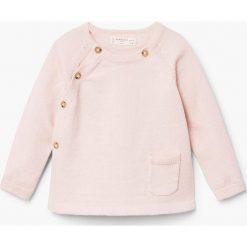 Mango Kids - Sweter dziecięcy Marine 62-74 cm. Swetry dla dziewczynek Mango Kids, z bawełny, z okrągłym kołnierzem. W wyprzedaży za 39.90 zł.