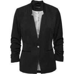 Żakiet z drapowanymi rękawami bonprix czarny. Żakiety damskie marki bonprix. Za 149.99 zł.