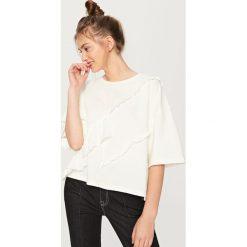 Bluzka z falbanami - Kremowy. Bluzki dla dziewczynek Reserved. W wyprzedaży za 29.99 zł.