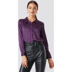 Rut&Circle Satynowa koszula Rebecka - Purple. Fioletowe koszule damskie Rut&Circle, z satyny. Za 104.95 zł.