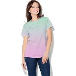 Colour Pleasure Koszulka CP-030  62 zielono-różowa r. XL/XXL. T-shirty damskie Colour Pleasure. Za 70.35 zł.