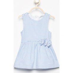 Bawełniana sukienka bez rękawów - Biały. Sukienki niemowlęce Reserved, z bawełny, bez rękawów. W wyprzedaży za 19.99 zł.