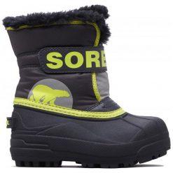 Sorel Chłopięce Śniegowce Snow Commander, 31, Szare/Żółte. Buty zimowe chłopięce marki Geox. Za 269.00 zł.