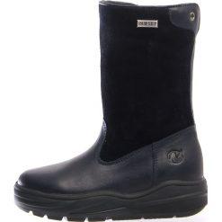 """Skórzane kozaki zimowe """"Ase"""" w kolorze granatowym. Buty zimowe dziewczęce Zimowe obuwie dla dzieci. W wyprzedaży za 257.95 zł."""