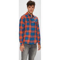 Wrangler - Koszula. Brązowe koszule męskie Wrangler, w kratkę, z tkaniny, z klasycznym kołnierzykiem, z długim rękawem. Za 239.90 zł.