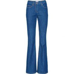 Wygodne dżinsy ze stretchem BOOTCUT bonprix niebieski. Jeansy damskie marki bonprix. Za 69.99 zł.