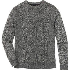 Sweter w warkocze Regular Fit bonprix antracytowy melanż. Swetry przez głowę męskie marki Giacomo Conti. Za 49.99 zł.