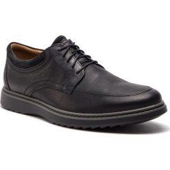 Półbuty CLARKS - Un Geo Lo 261368027 Black Leather. Czarne półbuty na co dzień męskie Clarks, z materiału. W wyprzedaży za 319.00 zł.