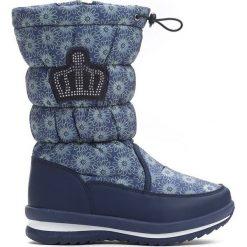 Granatowe Śniegowce Canoe. Niebieskie buty zimowe dziewczęce Born2be, z materiału. Za 89.99 zł.