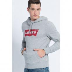 Levi's - Bluza. Szare bluzy męskie Levi's, z nadrukiem, z bawełny. Za 259.90 zł.