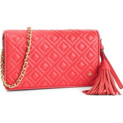 Torebka TORY BURCH - Fleming Flat Wallet Cross-Body 46449 Brilliant Red 612. Czerwone torebki do ręki damskie Tory Burch, ze skóry. Za 1,509.00 zł.