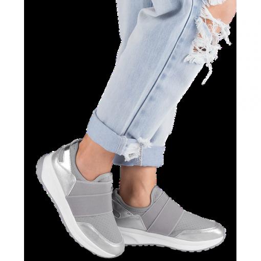 Buty sportowe damskie Ideal Shoes X 9700 Szare