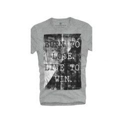 T-shirt UNDERWORLD Ring spun cotton Born to lose. Szare t-shirty męskie Underworld, z nadrukiem, z bawełny. Za 59.99 zł.