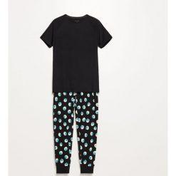Dwuczęściowa piżama - Czarny. Czarne piżamy męskie Reserved. Za 99.99 zł.