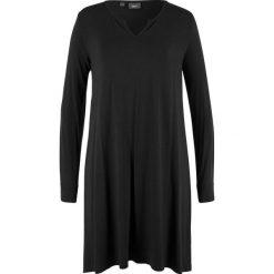 Sukienka shirtowa bonprix czarny. Czarne sukienki damskie bonprix. Za 37.99 zł.
