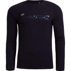 Longsleeve męski TSML600 - czarny - Outhorn. Czarne bluzki z długim rękawem męskie Outhorn, z bawełny. W wyprzedaży za 34.99 zł.