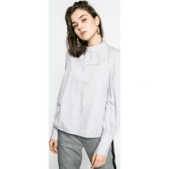 Vero Moda - Bluzka. Szare bluzki damskie Vero Moda, z bawełny, casualowe, ze stójką. W wyprzedaży za 69.90 zł.