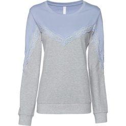 Bluza z koronką bonprix niebieski gołębi - jasnoszary melanż. Bluzy damskie marki MAKE ME BIO. Za 49.99 zł.