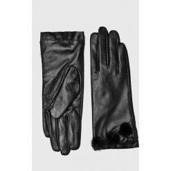 Liu Jo - Rękawiczki skórzane. Czerwone rękawiczki damskie Liu Jo, z materiału. Za 399.90 zł.