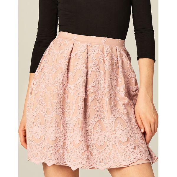 852fc14c916ee9 Koronkowa spódnica - Różowy - Spódnice damskie Mohito, z koronki. W ...
