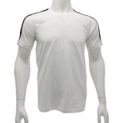 T-shirt Adidas Event Tee U39227. Białe t-shirty męskie Adidas, z bawełny. W wyprzedaży za 79.99 zł.