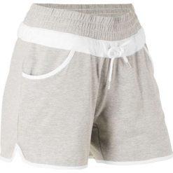 Szorty sportowe bonprix jasnoszary melanż. Spodnie dresowe damskie marki bonprix. Za 37.99 zł.