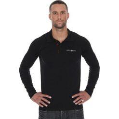 Brubeck Koszulka męska polo Prestige z długim rękawem czarna r. XL (LS10620). Koszulki sportowe męskie Brubeck, z długim rękawem. Za 215.89 zł.