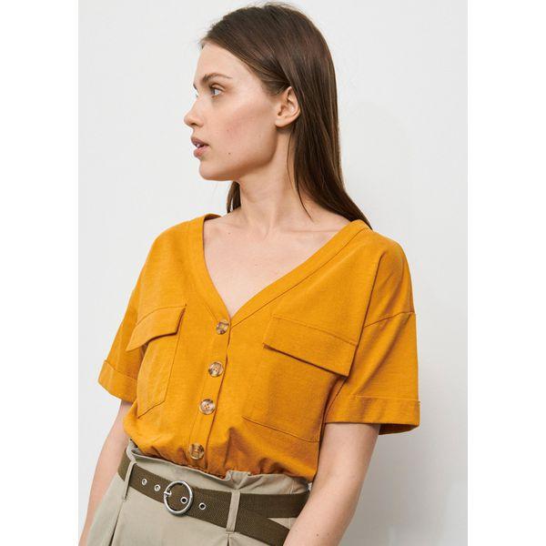 zółte bluzki damskie
