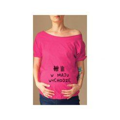 Różowy ciążowy oversize tshirt wychodzę w s-xxl. Czerwone t-shirty damskie One mug a day, z nadrukiem, z bawełny. Za 89.00 zł.