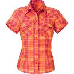 Bluzka, krótki rękaw bonprix malinowo-pomarańczowy  w kratę. Bluzki damskie marki Colour Pleasure. Za 27.99 zł.