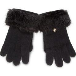 Rękawiczki Damskie TRUSSARDI JEANS - Gloves Knitted Ecofur 59Z00115 9Y099999 K299. Czarne rękawiczki damskie TRUSSARDI JEANS, z jeansu. Za 169.00 zł.