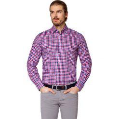 Koszula w Kratę Haria. Czerwone koszule męskie LANCERTO, z bawełny. Za 299.90 zł.