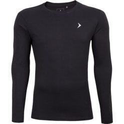 Longsleeve męski TSML600 - głęboka czerń - Outhorn. Czarne bluzki z długim rękawem męskie Outhorn, z bawełny. W wyprzedaży za 39.99 zł.