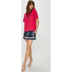 Dkny - Piżama + opaska na oczy do spania. Szare piżamy damskie DKNY, z bawełny. W wyprzedaży za 279.90 zł.