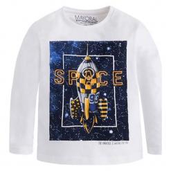 Koszulka w kolorze białym ze wzorem. T-shirty dla chłopców marki Reserved. W wyprzedaży za 39.95 zł.