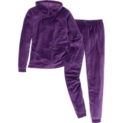 Piżama z weluru nicki bonprix ciemny lila. Fioletowe piżamy damskie bonprix, z weluru. Za 109.99 zł.
