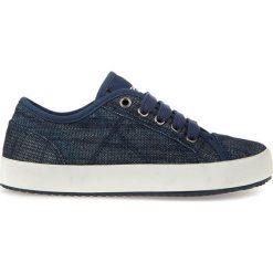 """Sneakersy """"Alonisso"""" w kolorze granatowym. Niebieskie trampki i tenisówki chłopięce Geox Kids, z gumy. W wyprzedaży za 107.95 zł."""