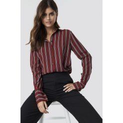NA-KD Trend Koszula w paski - Red. Czerwone koszule damskie NA-KD Trend, w paski. Za 161.95 zł.