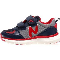"""Sneakersy """"Sport 552"""" w kolorze granatowo-czerwonym. Czerwone trampki i tenisówki chłopięce Naturino, z materiału, sportowe. W wyprzedaży za 172.95 zł."""