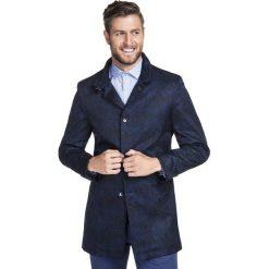 Płaszcz PIERPAOLO PSGS000070. Niebieskie płaszcze męskie Giacomo Conti, na jesień, z materiału. Za 699.00 zł.